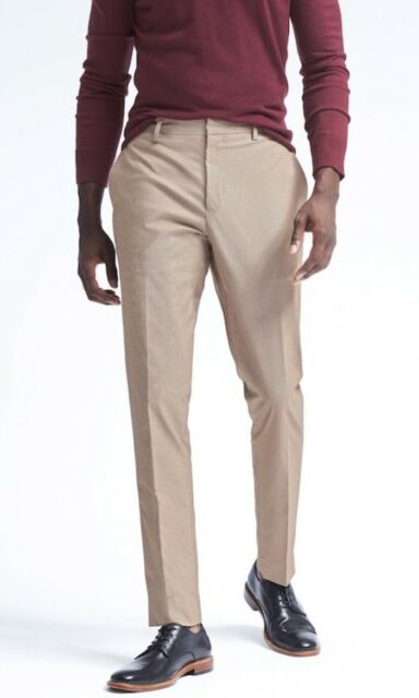 e018aebf5a1e Banana Republic Slim Non-Iron Stretch Cotton Houndstooth 33x32 Dress Pant   98.50