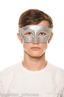 Men/'s Handsome Black Venetian Masquerade Mask Mardi Gras Wedding Prom Brand NEW