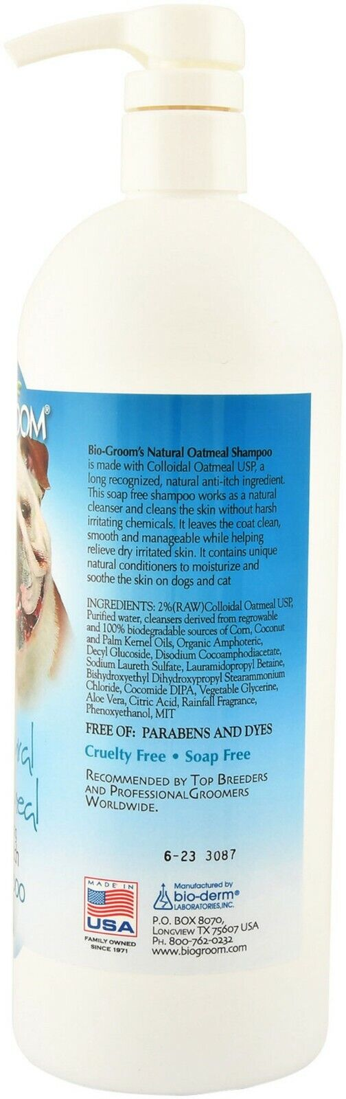 Bio-Groom Natural Avena Anti Picor Champú Perros Aliviar Seco Irritado