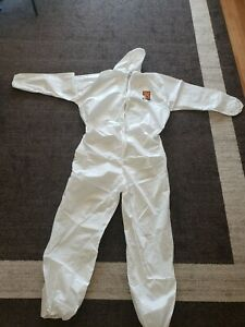 KLEENGUARD A-20 PROTECTIVE COVERALL ELASTIC Waist 3XL Suit Cover Painter HOODED