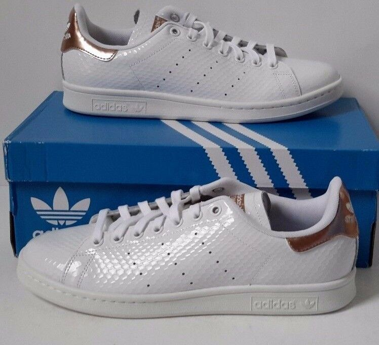 Wmns Adidas Stan Smith Copper White Kettle pink pink pink gold S79411 Snakeskin Metallic 9c79ff