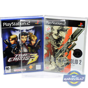 3 X Ps2 Game Box Protectors Strong 04mm Plastic Display Case For