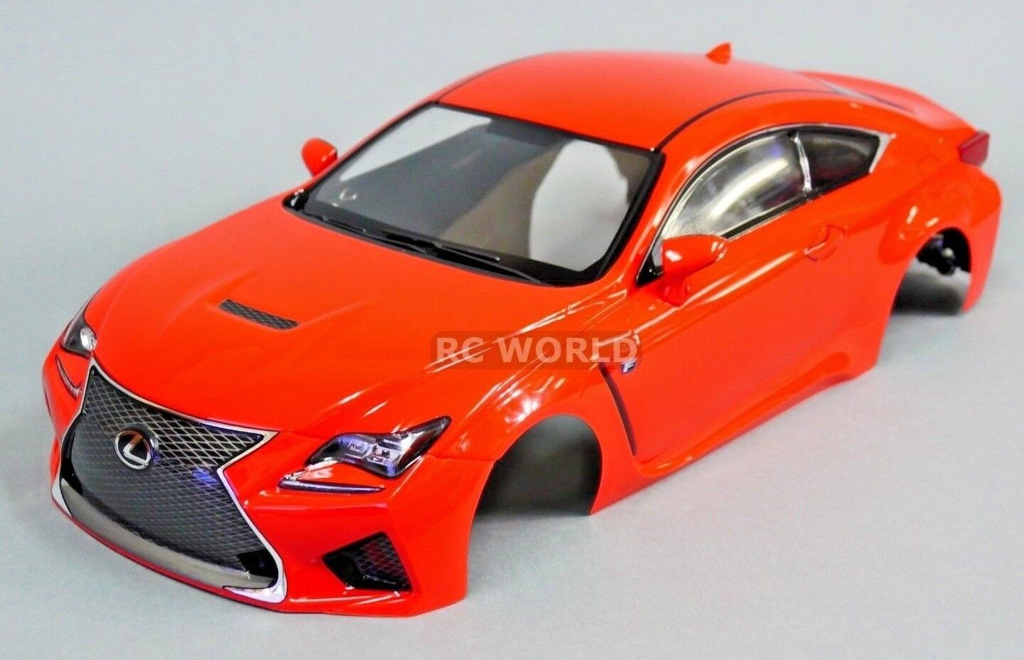 1/10 RC Car BODY Shell LEXUS RC F  190mm *FINISHED*  rosso