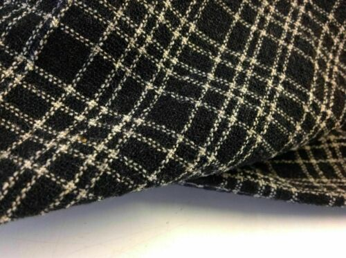 NEW Multi Colour Wool Check Suiting Boucle Fabric Seen On Designer Catwalk Image