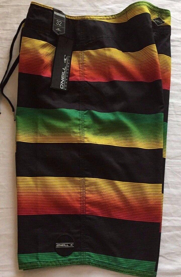 O'NEILL SANTA CRUZ STRIPE Boardshorts Board Shorts - Men's 32 NWT