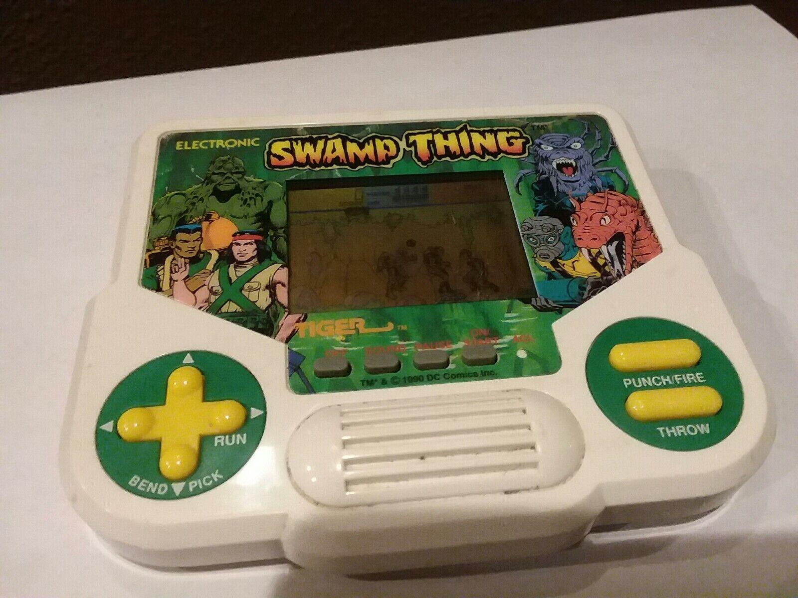 Vintage Tiger Electronics Handheld Swamp Thing Sehr selten funktioniert