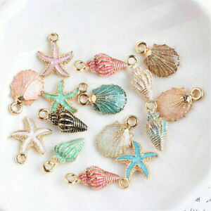 13-Pcs-Set-Mixed-Starfish-Conch-Shell-Metal-Charms-Pendant-Jewelry-Making-DIY-JP