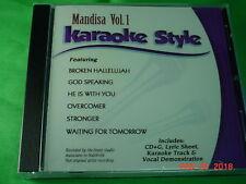 Mandisa Volume 1 Christian Karaoke Style CD G Daywind 6 Songs