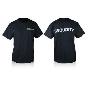 buy popular 761e7 1e642 Dettagli su T-SHIRT MAGLIETTA NERA CON SCRITTE SECURITY SICUREZZA MAGLIA  UOMO