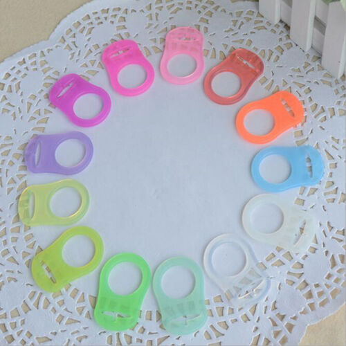 5Pcs Colorful Silicone Baby Dummy Pacifier Holder Clip Adapter For MAM Rings J/&S