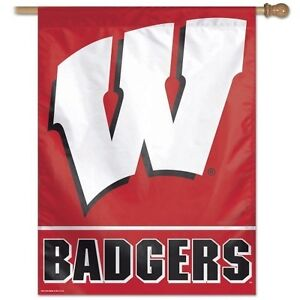 Details about WISCONSIN BADGERS ~ Official NCAA Outdoor 27x37 House Flag  Banner ~ New!