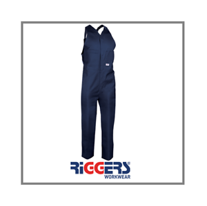 Riggers Cotton Action Back Overalls Navy Size 79L R311