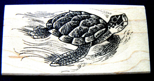 Ocean turtle sea turtle  rubber stamp  WM P41