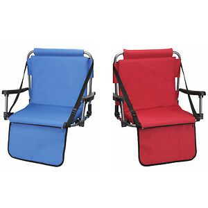 Details About 2 Barton Outdoors Stadium Chairs W Armrests Back Bleacher Seat Cushion
