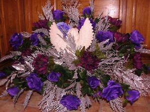 Angel-Kiss-Memorial-Day-Funeral-simpatia-Monumento-grave-Morado-Plata-Flores