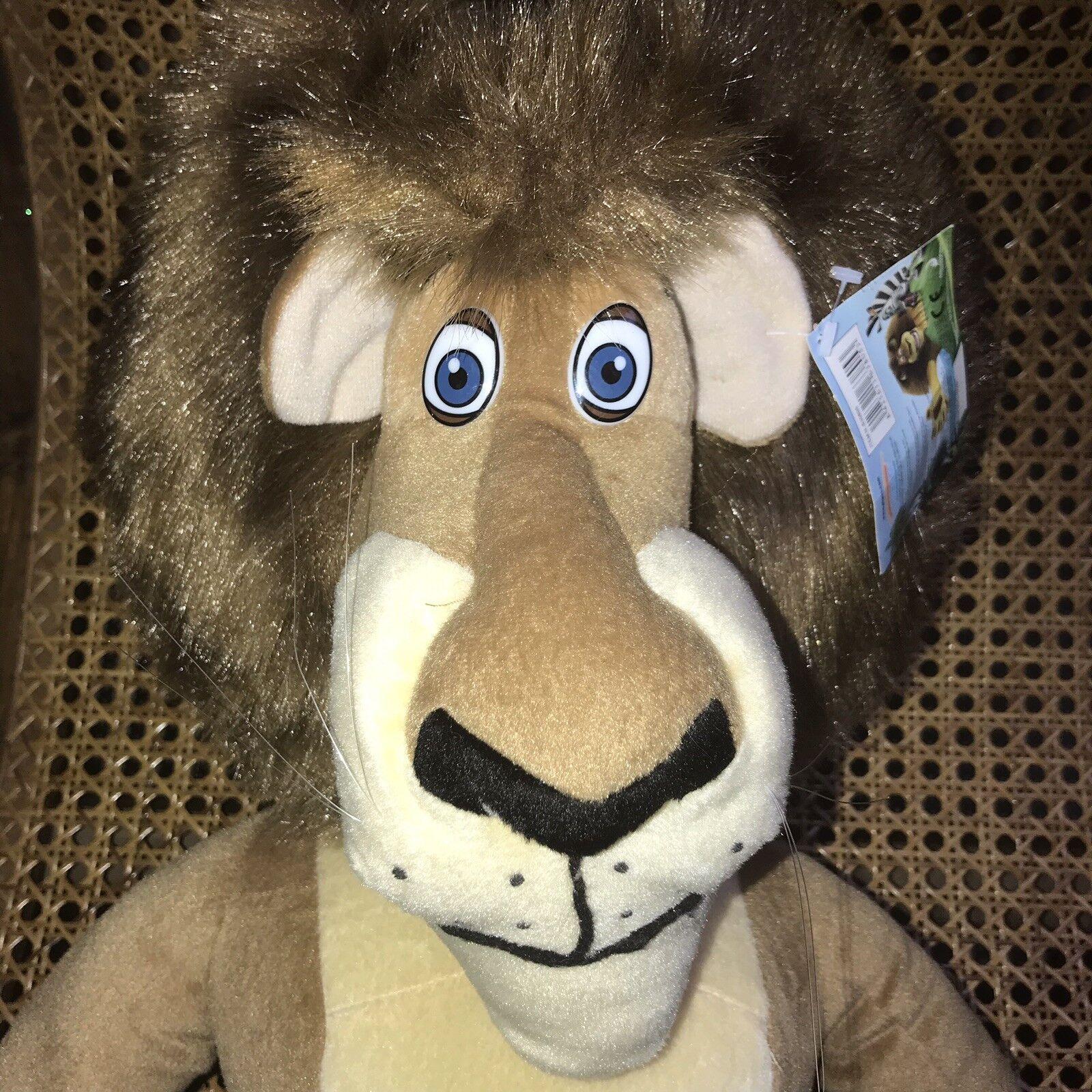 Dreamworks XL Madagascar Alex The Lion Plush Soft Toy Wild Safari Gosh 2004
