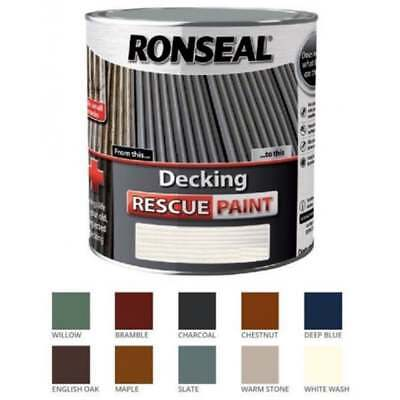 RONSEAL DECKING RESCUE PAINT VARIOUS COLOURS 2.5 OR 5 LITRE TINS