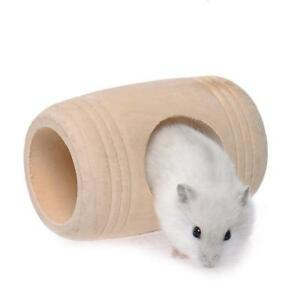 Wood-Tube-House-Mice-Hamsters-Degus-amp-Other-Small-Rodents-Cage-Toy-Funny-Mini-LD