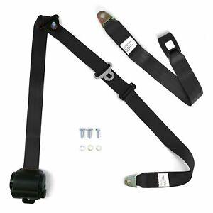 3Pt-Bench-Seat-Belt-Conversion-Replacement-Black-Retractable-Standard-Buckle