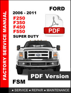 WORKSHOP MANUAL OR REPAIR MANUAL FORD SUPER DUTY F-250 F-350 F-450 2011-2016