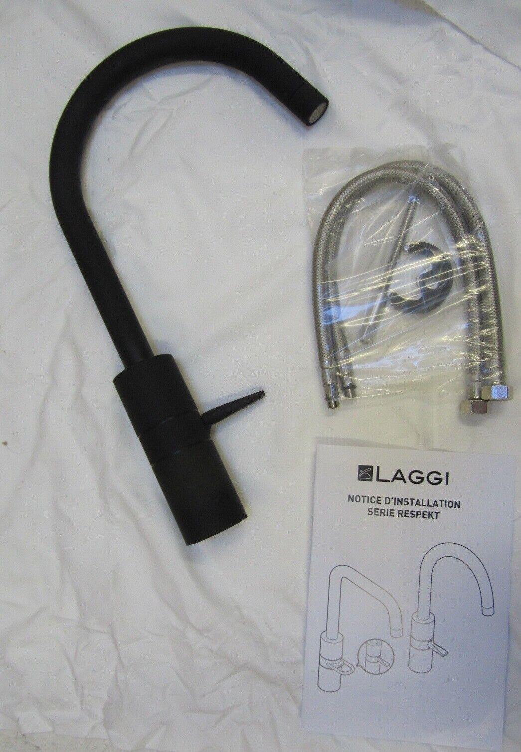 Laggi 106089 Küchenarmatur schwarz Rechnung D41956 | Erste Qualität  | Merkwürdige Form  | Authentisch  | Billig ideal