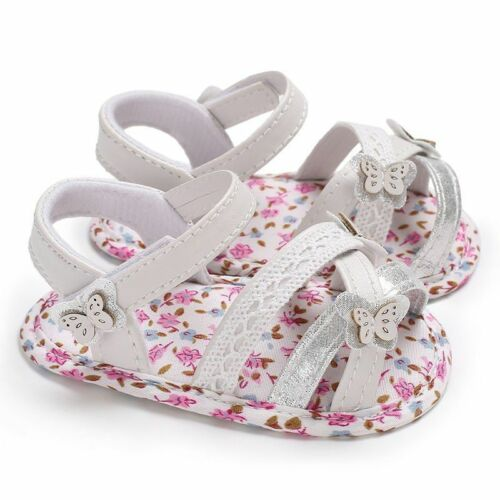 Newborn Baby Faux Leather Shoes first walker floral soft soled anti-slip unisex