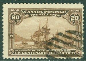 EDW1949SELL : CANADA 1908 Scott #103 Fine, Used. Clean. Catalog $225.00.