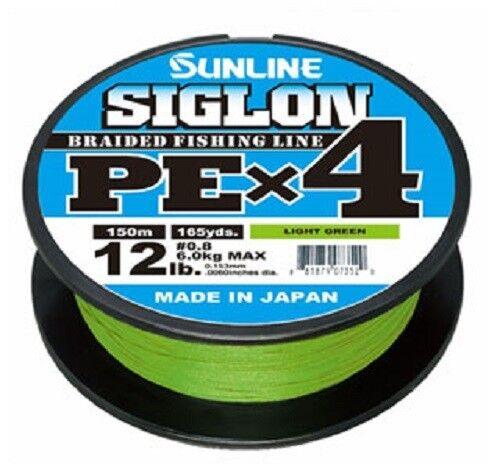 SUNLINE SIGLON PE X4 150m Light Green 4Braid Line made in JAPAN