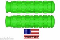 Bicycle Bmx Fits Gt Dk Huffy Kent Mongoose Schwinn Green Hex Hand 7/8 Bar Grips