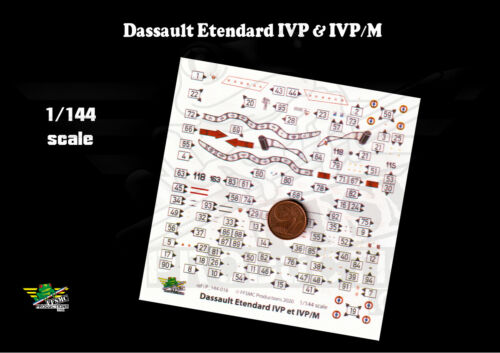 FFSMC Productions 1//144 Decals Dassault Etendard IVP /& IVP//M