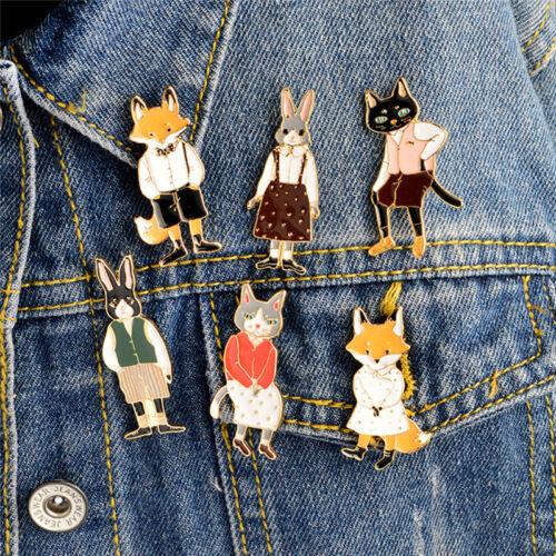 Enamel Cat   Brooch Pin Animal Shirt Collar Pin Badge Corsage Jewelry P0CA
