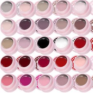 25Stk-Hautfarbe-Schwarz-Weiss-Rot-Gellack-Soak-Off-UV-Nagellack-Polish-UR-SUGAR