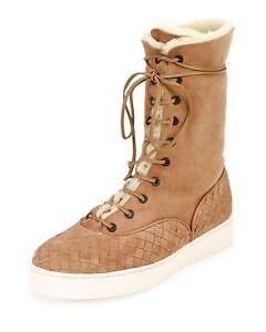 Bottega-Veneta-Intrecciato-Trim-Shearling-Fur-Mid-Calf-Boots-Camel-1-350-Sz-6-5