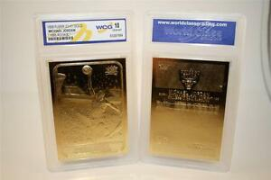 MICHAEL-JORDAN-1986-Fleer-ROOKIE-23KT-Gold-Card-Sculptured-Graded-GEM-MINT-10