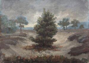 Dune-Landscape-with-Pine-Monogram-GF-1941-Oil-Painting-38-5-x-52-5-cm