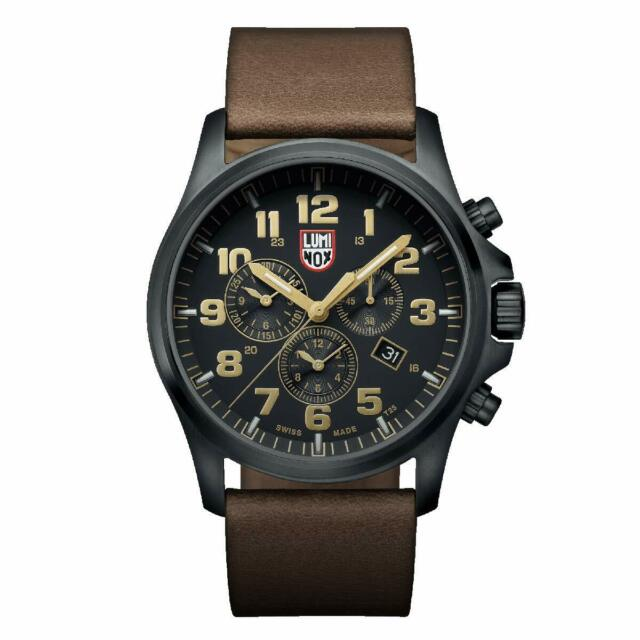Luminox Men's Watch Atacama Field Chronograph Black Dial Brown Strap 1949