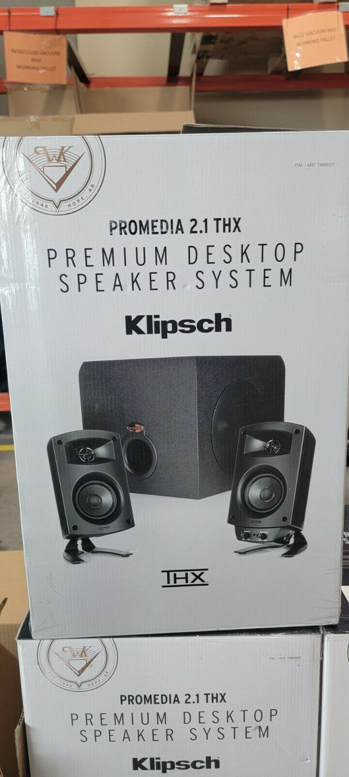 Klipsch ProMedia 2.1 THX Certified Computer Speaker System w/ Subwoofer. Buy it now for 84.99