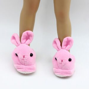 Cute-Pink-Bunny-Slippers-18-Inch-Doll-Clothes-Fits-18-034-Dolls-Toys-Handmade