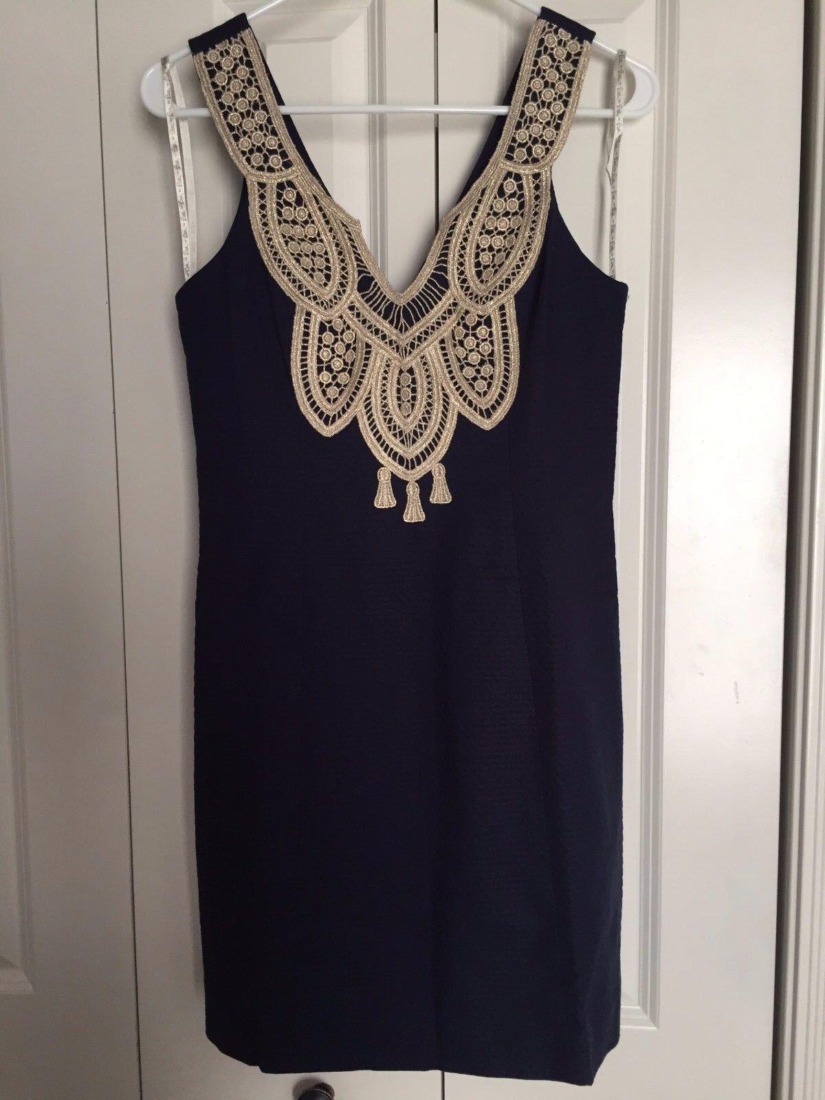 BRAND NEW LILLY PULITZER WOMEN'S LARGO SHIFT DRESS DRESS DRESS Style  25094 SIZE 8 Navy 854369