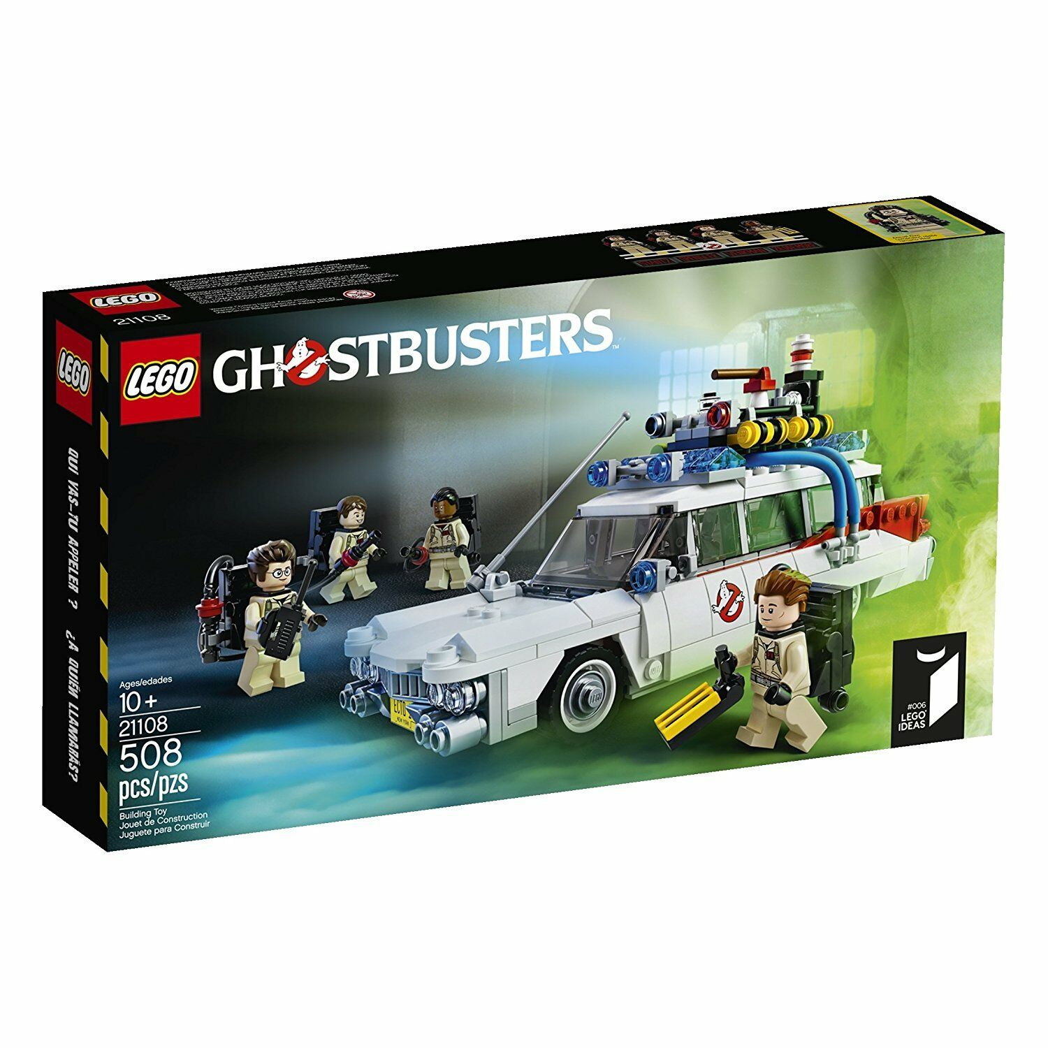 Lego Ghostbusters 21108 ECTO-1 car Ghost Paranormal Predon Discontinued NISB