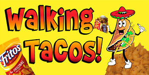 WALKING-TACOS-TACO-IN-A-BAG-VINYL-HORIZONTAL-BANNERS-CHOOSE-A-SIZE-FRITOS