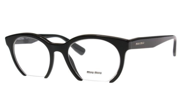 MIU MIU Authentic Eyeglasses Frame VMU 09n 1ab-101 Black 50mm | eBay