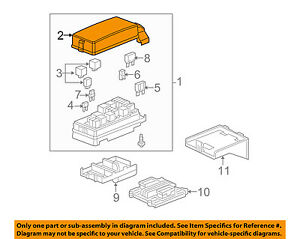Details About Chevrolet Gm Oem 2009 Equinox Electrical Fuse Relay Box Upper Cover 20778302