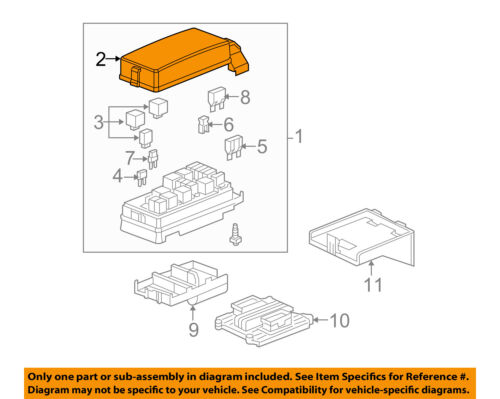 GM OEM Electrical-Fuse Relay Box Upper Cover 15250620