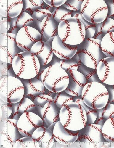 Baseballs Stacked-Timeless Treasures-Fat Quarter