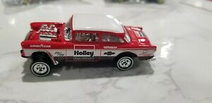 Details about Hot Wheels 55 Chevy Bel Air Holley Gasser Red 1:64 Diecast  Car Unspun Real Rider