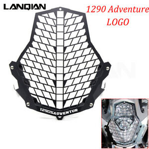 Black-Lamp-Guard-Headlight-Protector-Cover-Logo-For-KTM-1290-S-Adventure