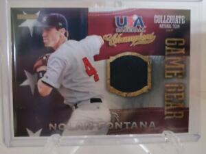 2013-Panini-USA-Baseball-Nolan-Fontana-Game-Used-Jersey