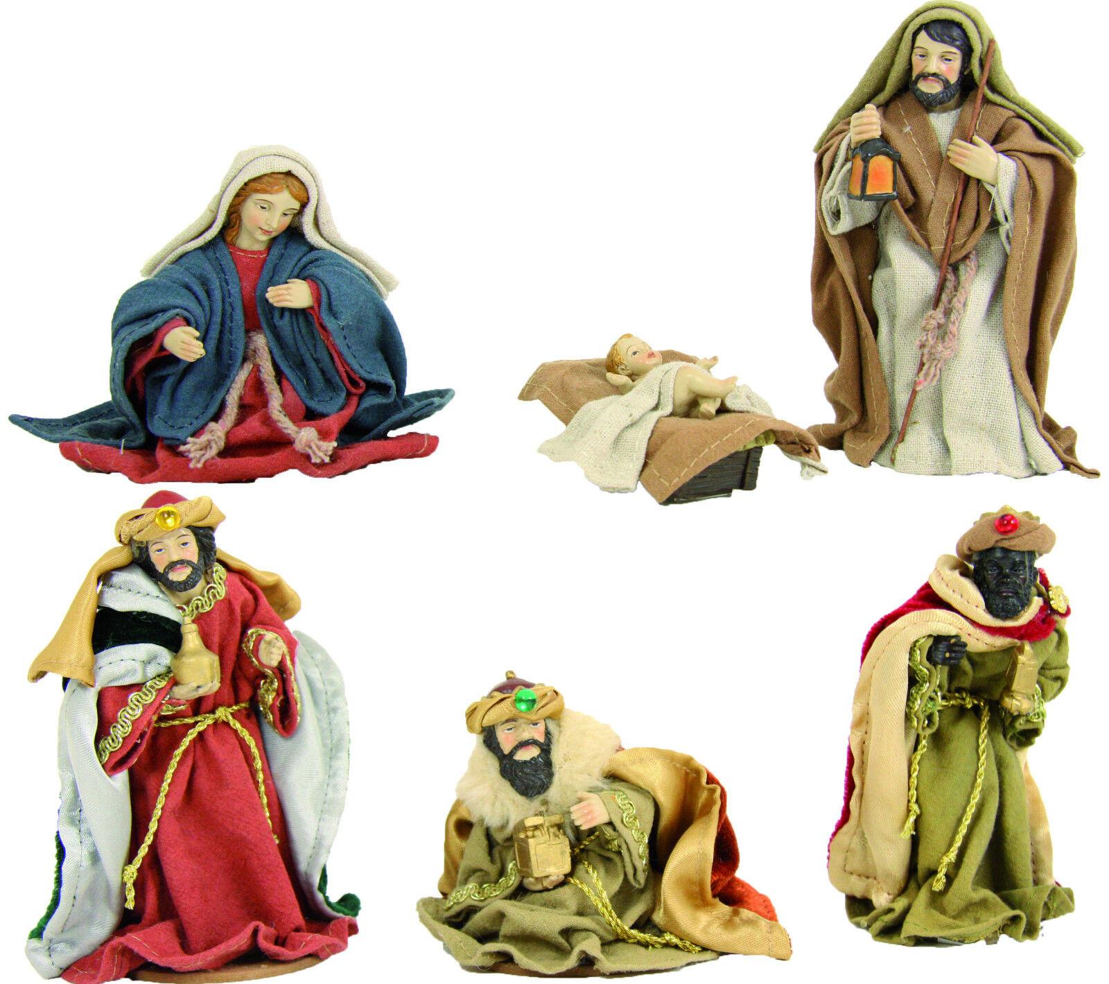 Weihnachtskrippe Krippenfiguren Ankleidekrippenset 6-teilig Figuren Figuren Figuren ca 13 cm b41dd7