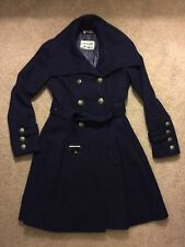 Women's Guess Navy Blue Pleated Skirt Wool Peacoat Size S